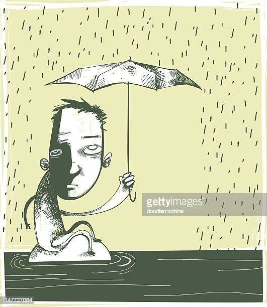 aquaphobia : fear of water - phobia stock illustrations, clip art, cartoons, & icons