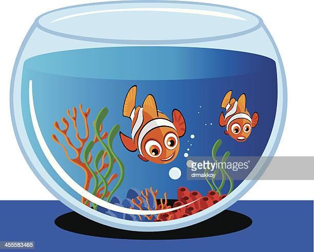 aquarium and fish - anemonefish stock illustrations, clip art, cartoons, & icons