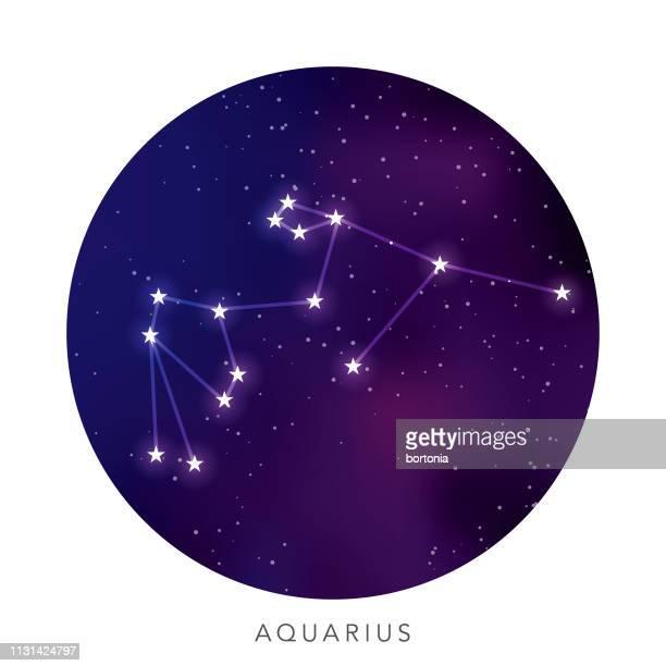 illustrations, cliparts, dessins animés et icônes de constellation de l'étoile verseau - signe du verseau
