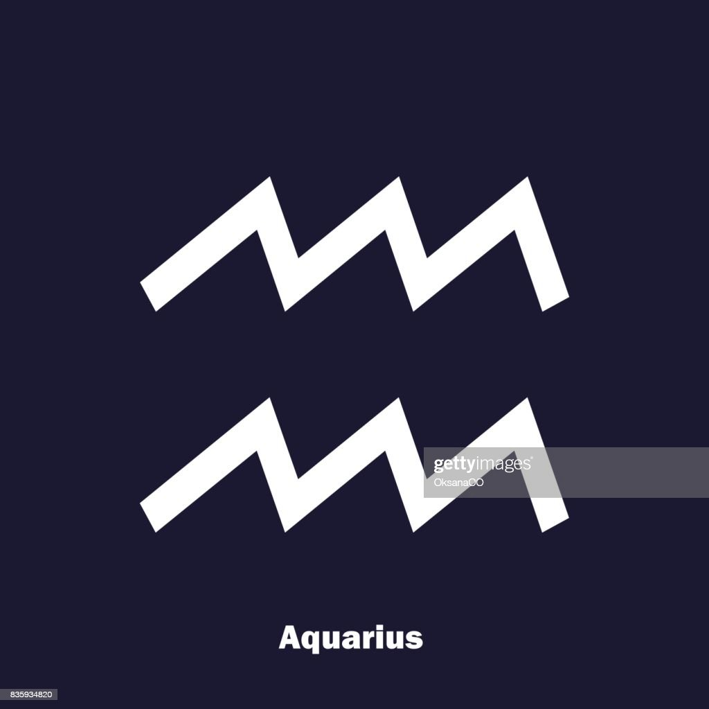 Aquarius zodiac sign astrological symbol vector icon on dark blue aquarius zodiac sign astrological symbol vector icon on dark blue background biocorpaavc Image collections