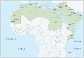 Arab league map