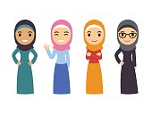 Arab Muslim women set