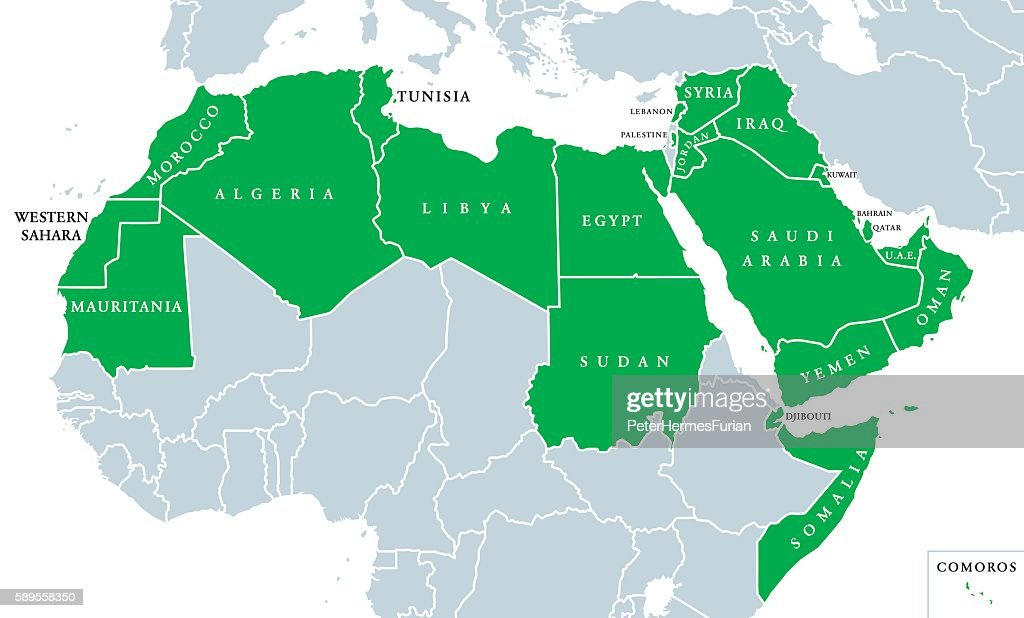 Arab World political map
