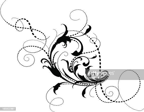 Arabesque and Dot Scroll