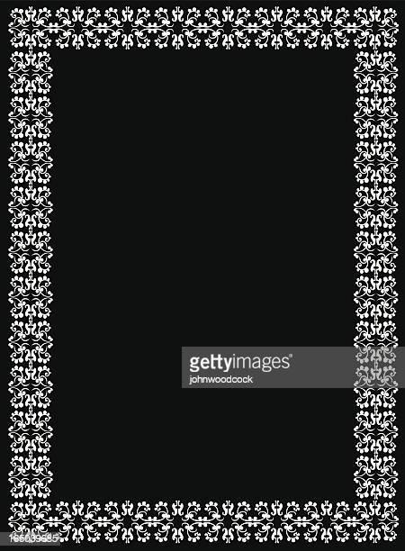 arabesque border - 16th century style stock illustrations