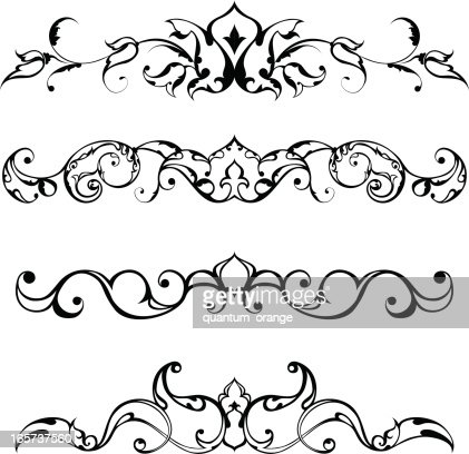 Arabesque decoration vector art getty images for Arabesque style decoration