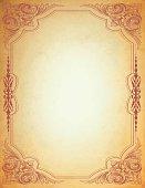 Arabesque Parchment Frame