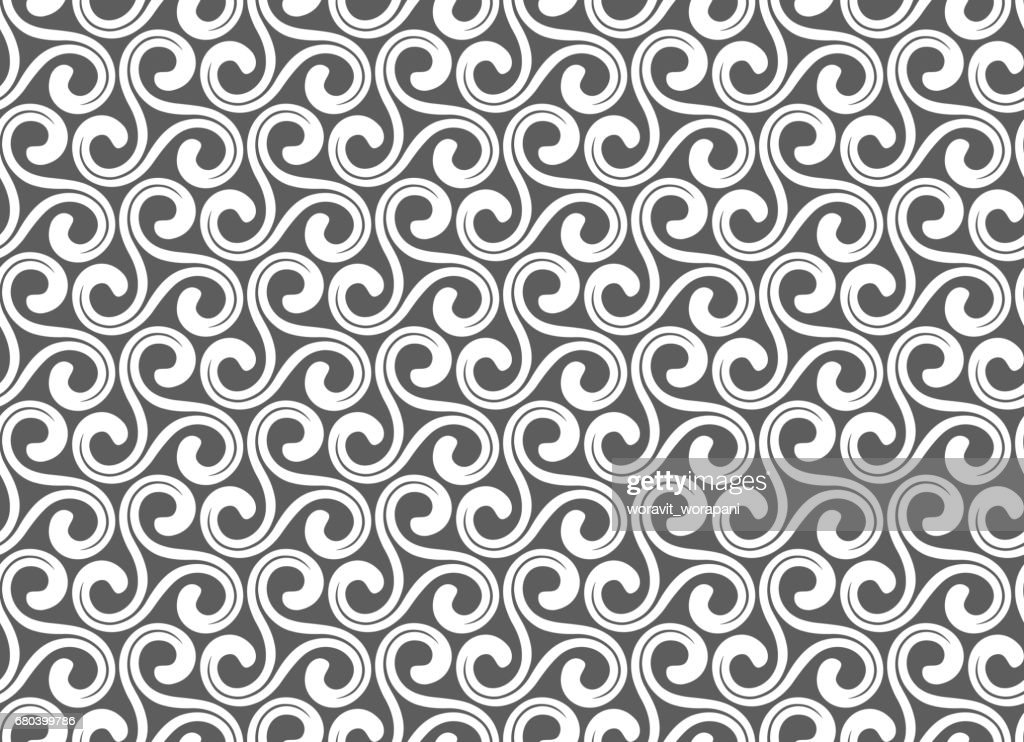 Arabesque. Vintage abstract floral seamless pattern. vector and illustration