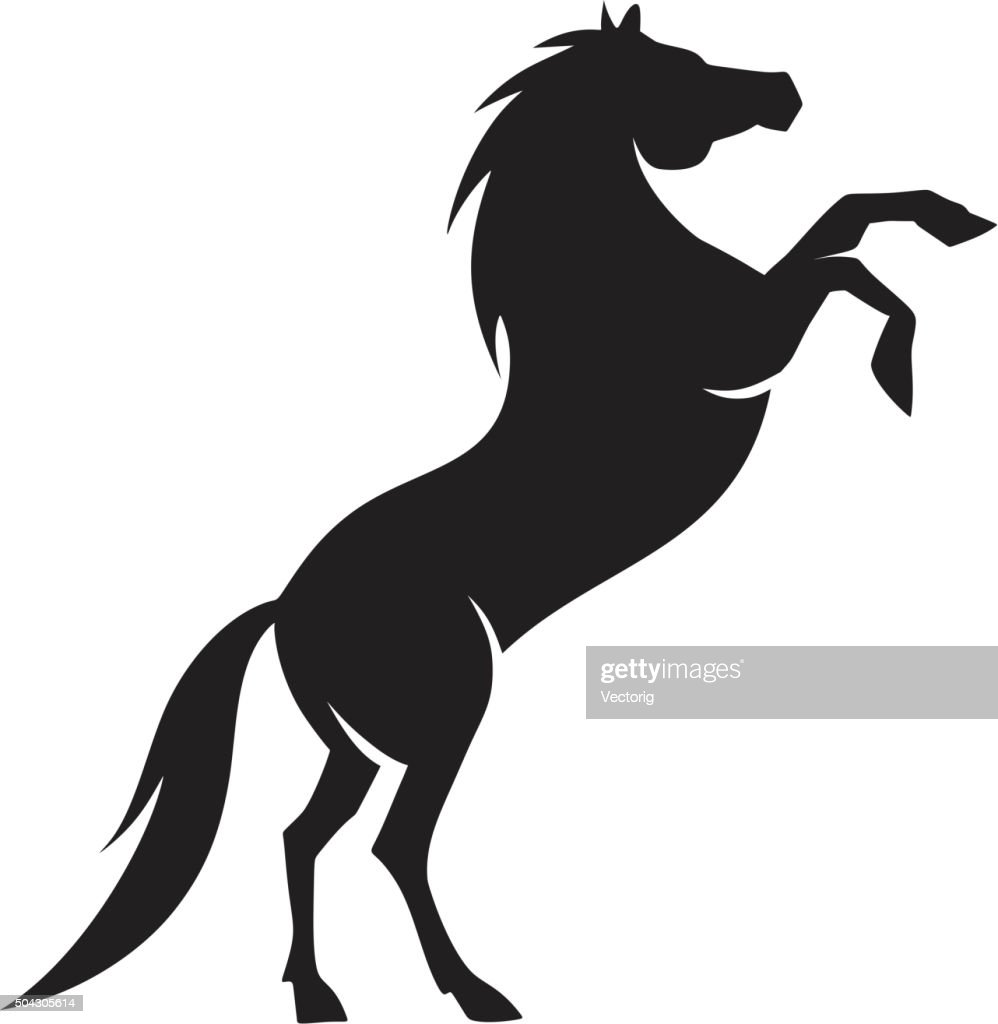Arabian horse silhouette vector art getty images for Clipart mare