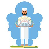 arabian man with book