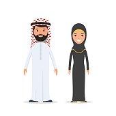 Arabian muslim couple