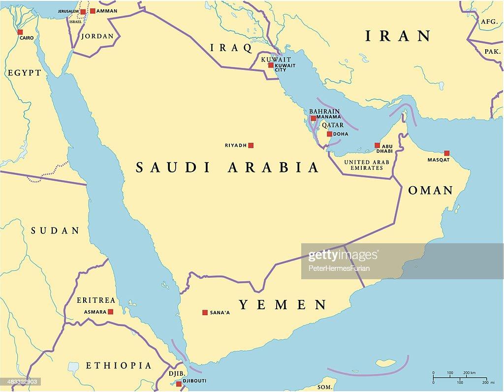 Arabian Peninsula Political Map