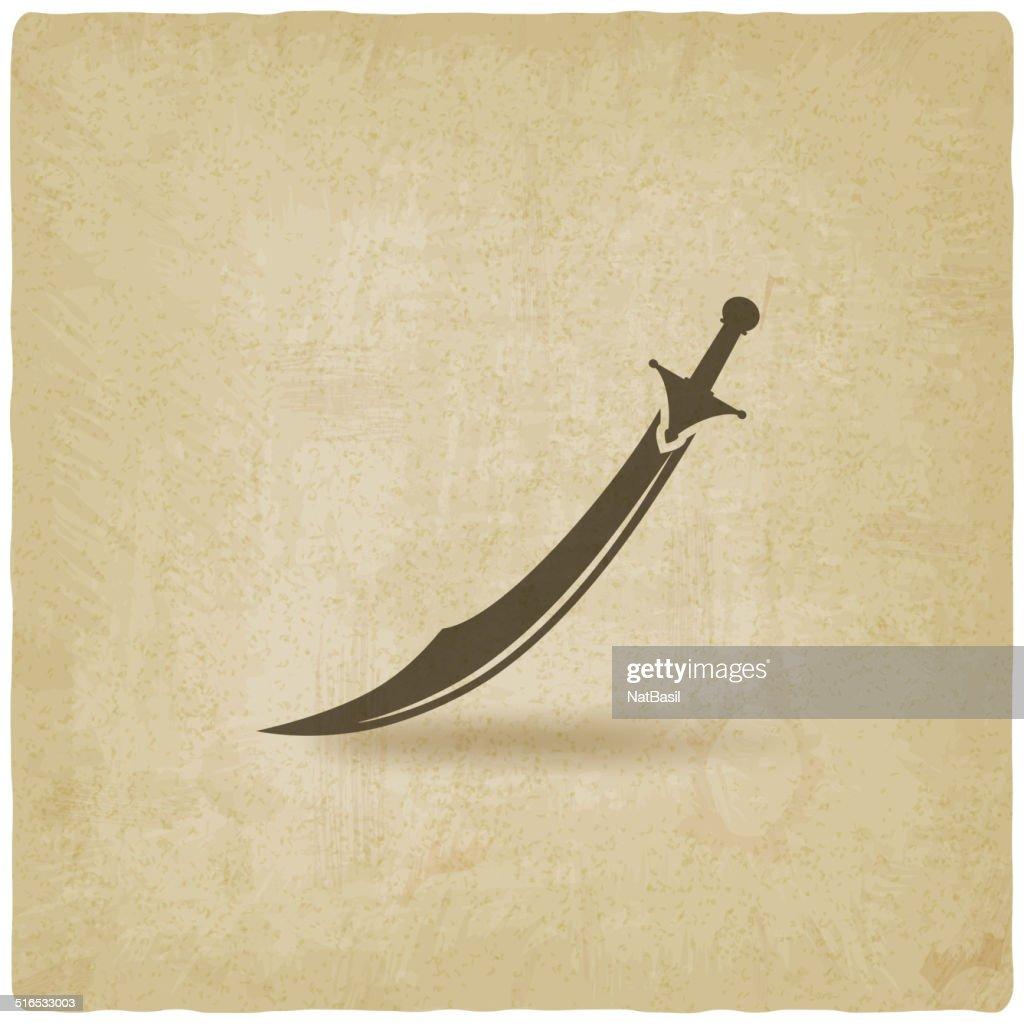Arabian saber scimitar old background