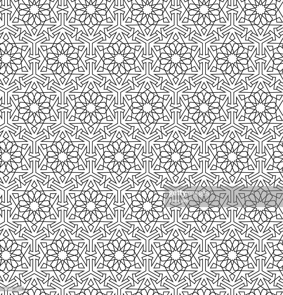 Arabian seamless net pattern