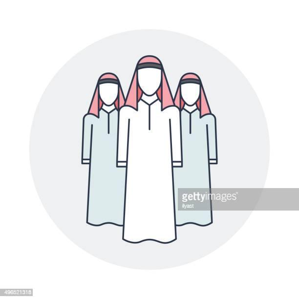 arabian workforce - religious dress stock illustrations, clip art, cartoons, & icons