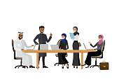 Arabic business team or coworking,