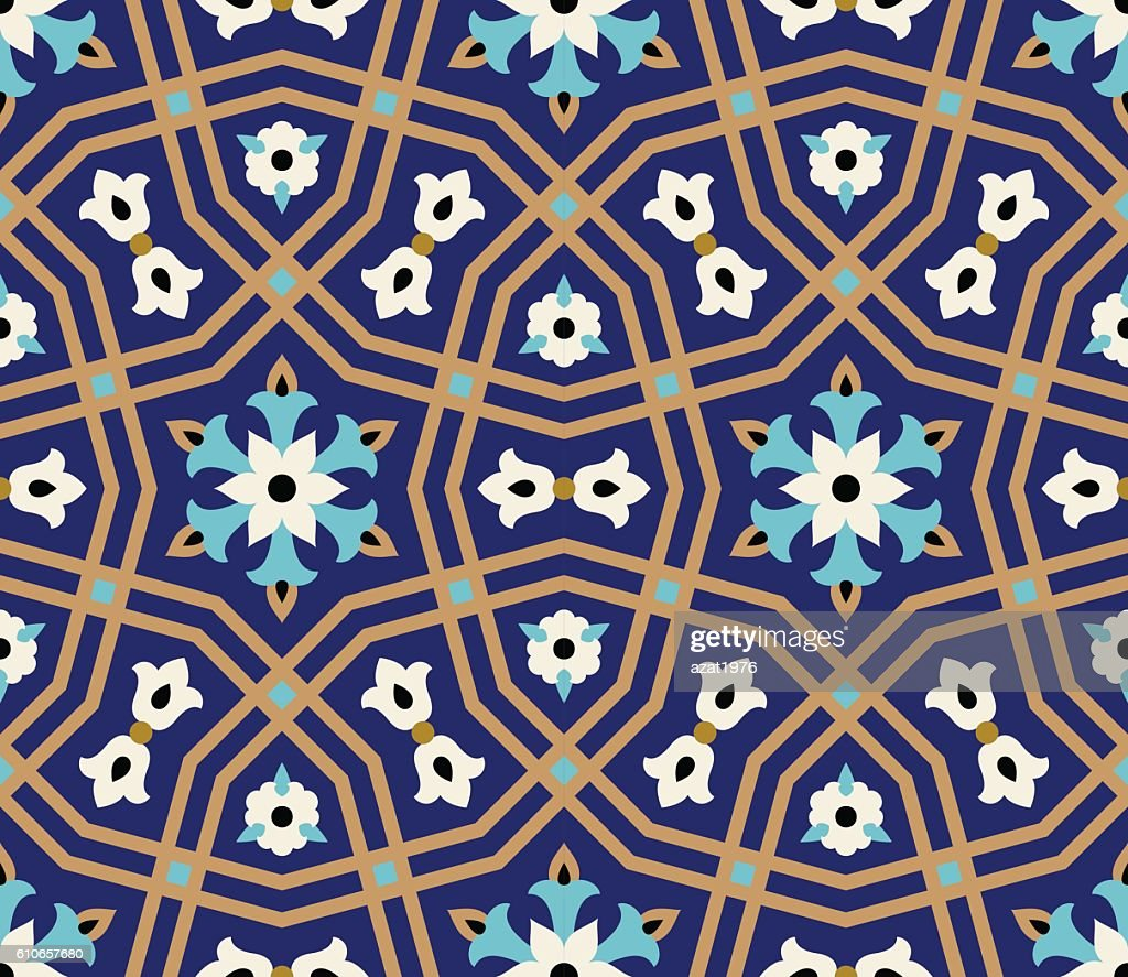Arabic Floral Seamless Pattern. Traditional Arabic Islamic Background.