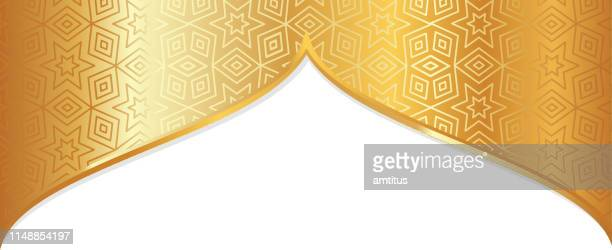arabic frame design - ramadan stock illustrations