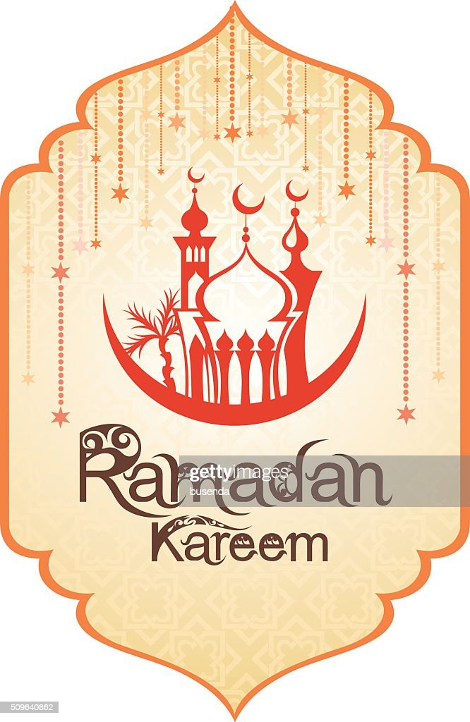 Arabic Islamic card of Ramadan Kareem