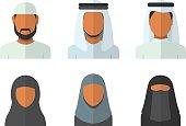 Arabic man and woman set