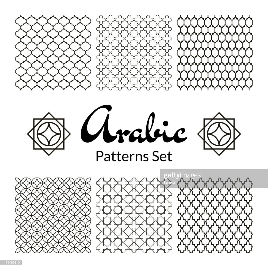 Arabic seamless patterns set