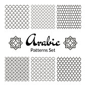 Arabic seamless patterns set