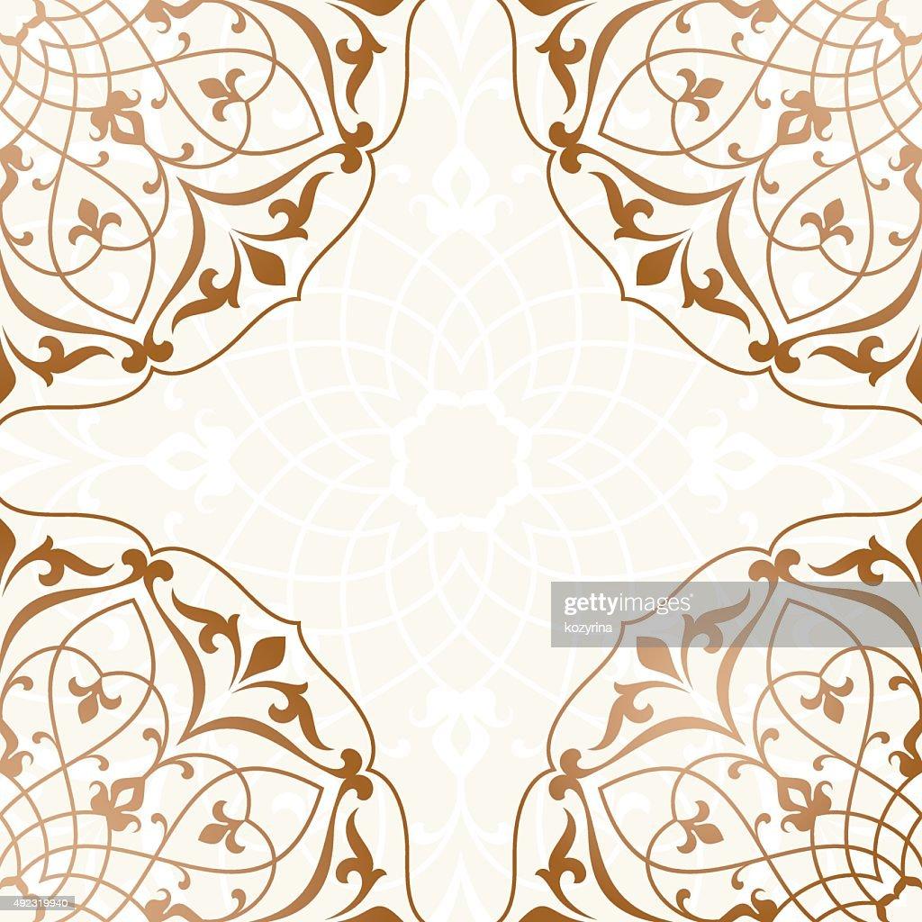 Arabic Vintage Invitation Card High Res Vector Graphic