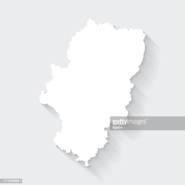 aragon map with long shadow on blank background - flat design - aragon stock illustrations