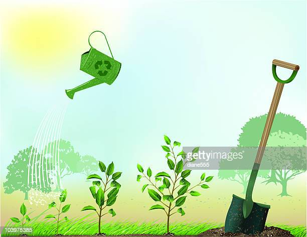 arbor day - earth day stock illustrations