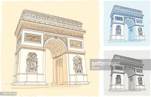 凱旋門 - パリ凱旋門点のイラスト素材/クリップアート素材/マンガ素材/アイコン素材