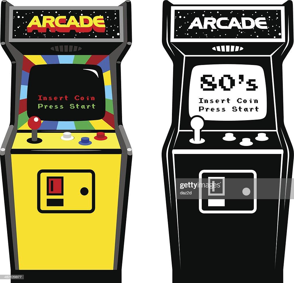 Arcade Game Cabinet : stock vector