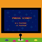 Arcade screen and gamepad