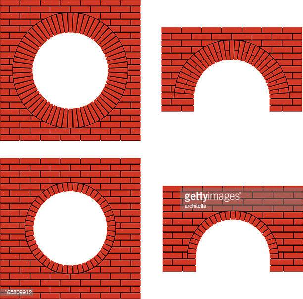 アーチのレンガの壁 - 建築上の特徴 アーチ点のイラスト素材/クリップアート素材/マンガ素材/アイコン素材