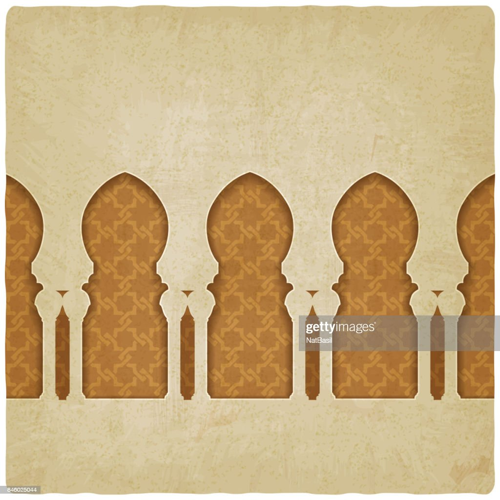arch on background with arabic pattern