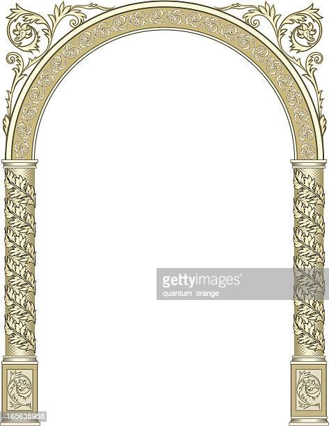 arch - gothic style stock illustrations, clip art, cartoons, & icons