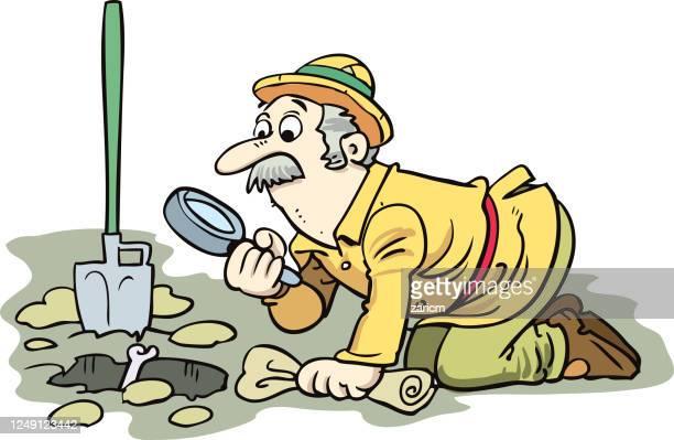 archaeologist . excavations, archeology - archaeology stock illustrations