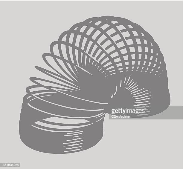 ilustrações, clipart, desenhos animados e ícones de delicado arqueada - espiral de metal