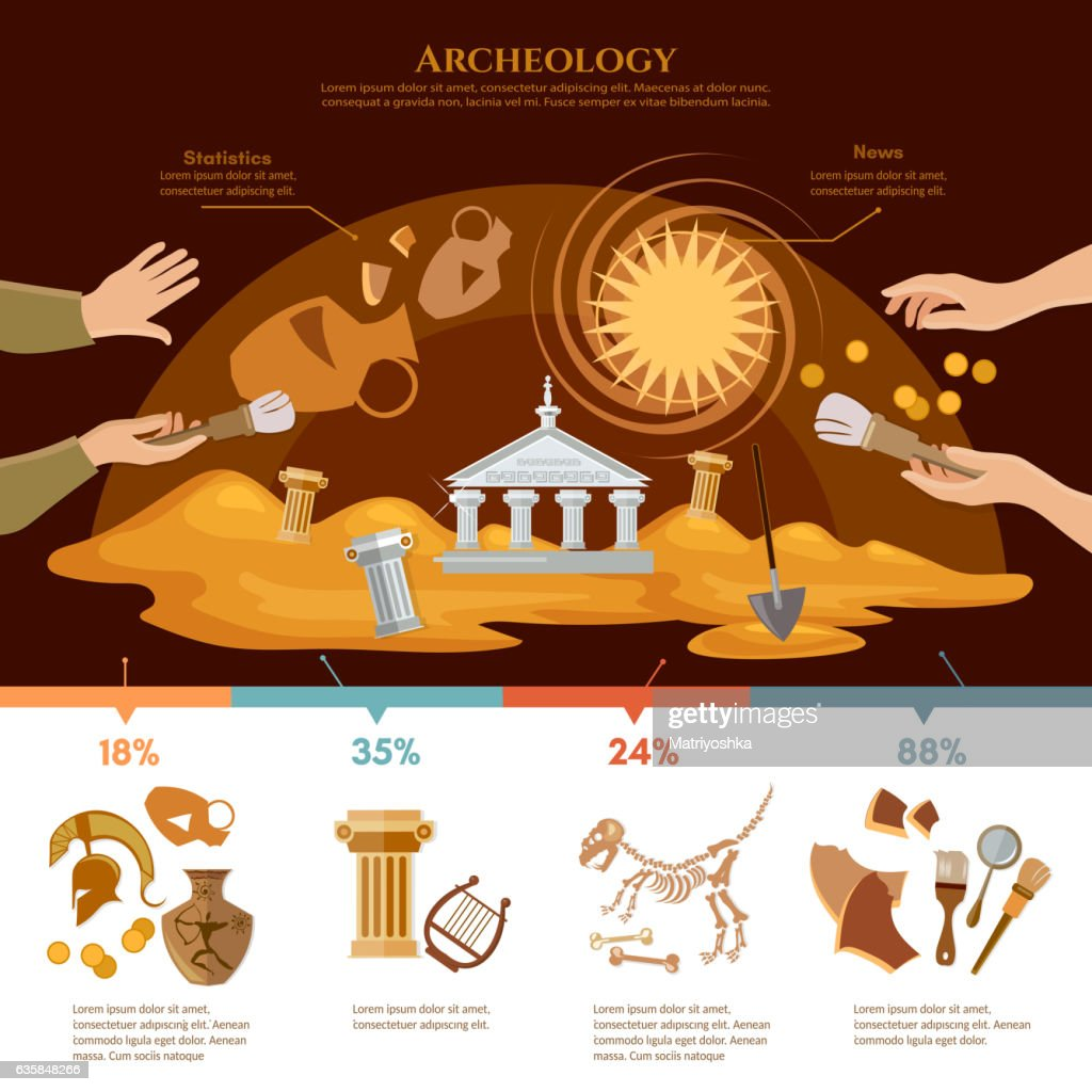 Archeology and paleontology concept