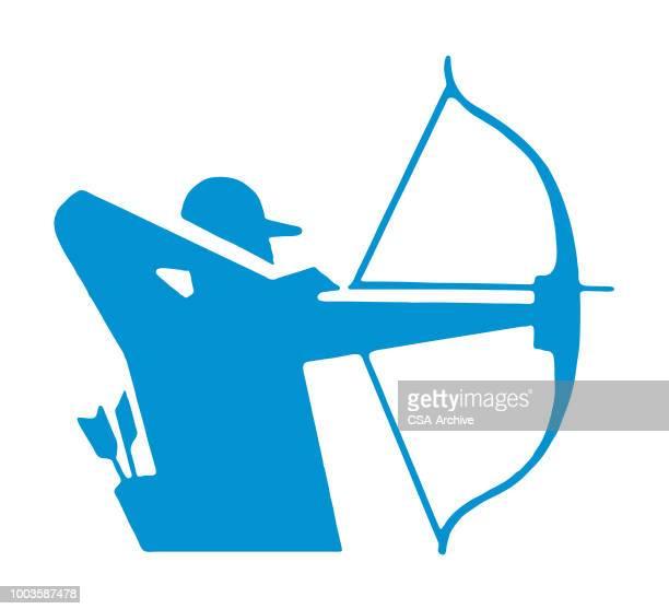archer - archery stock illustrations