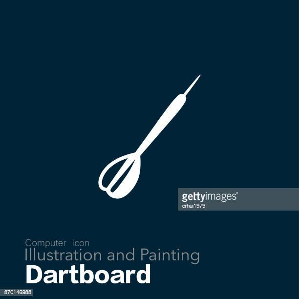 archery - dart stock illustrations, clip art, cartoons, & icons