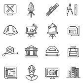 architect icons set.