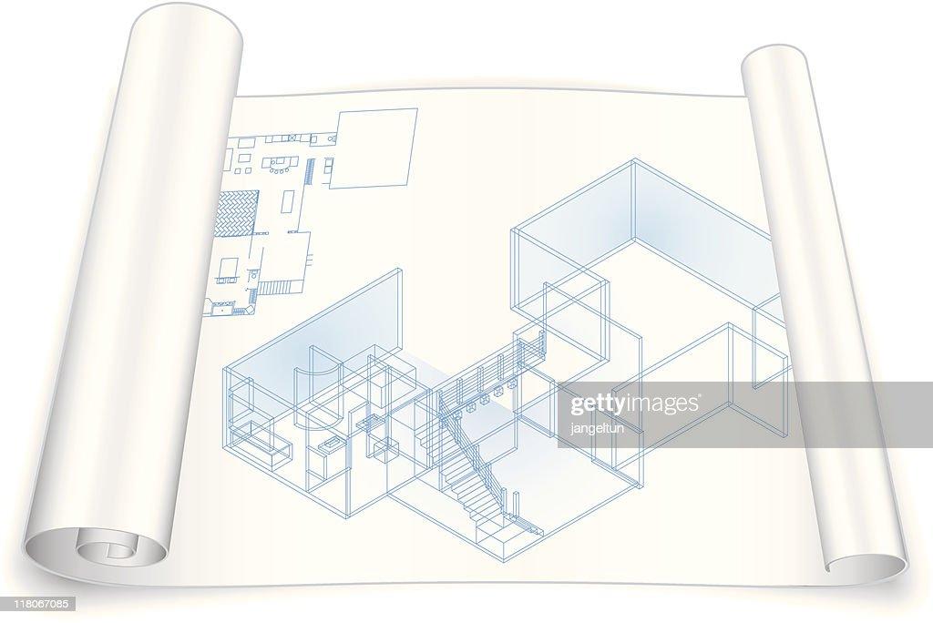 Modelo Arquitetônico : Ilustração