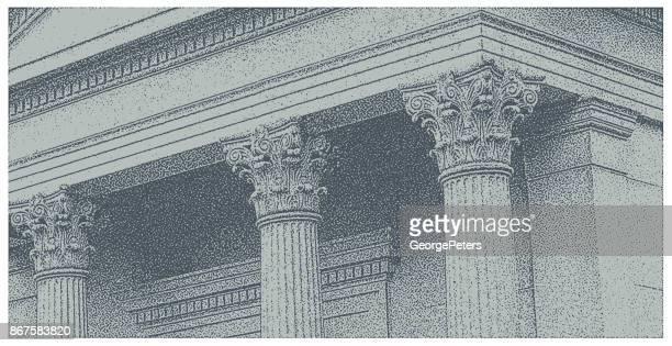 architectural detail. columns - corinthian stock illustrations, clip art, cartoons, & icons