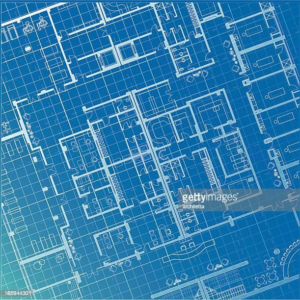 architectural plan blueprint