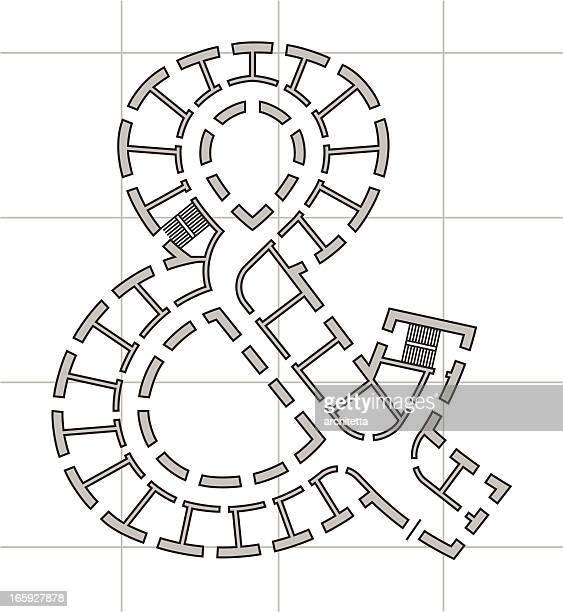 architectural plan of ampersand sign