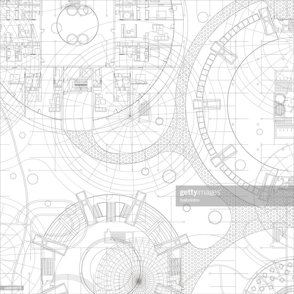 Architectural vector blueprint.