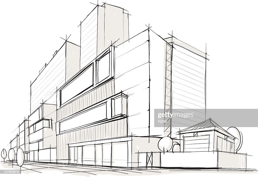Architecture. Building. Sketch