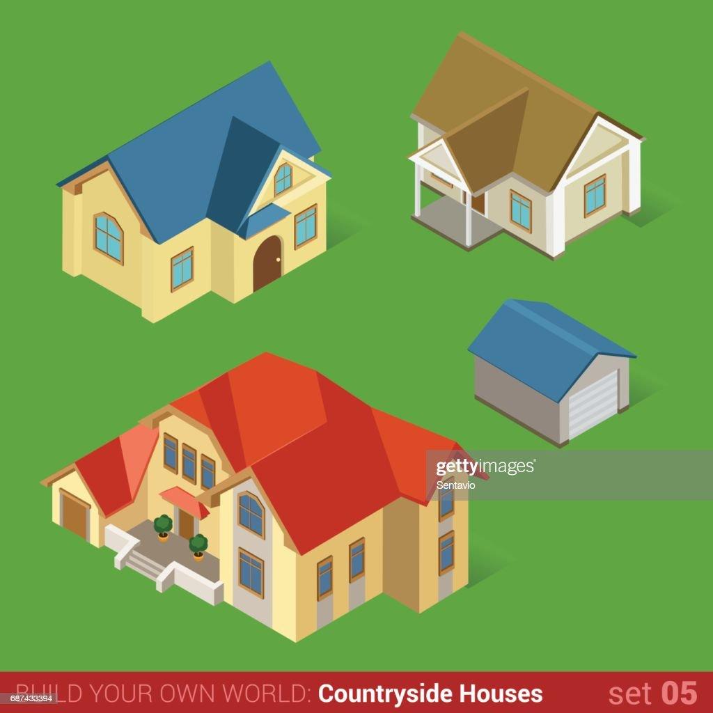 Perfect Maison Home Ferienhaus Stadthaus Und Garage. Bauen Sie Ihre Eigene  Welt Web Infografik Sammlung.