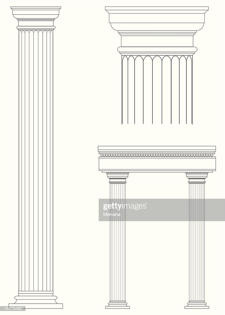 Architecture columns blueprint design