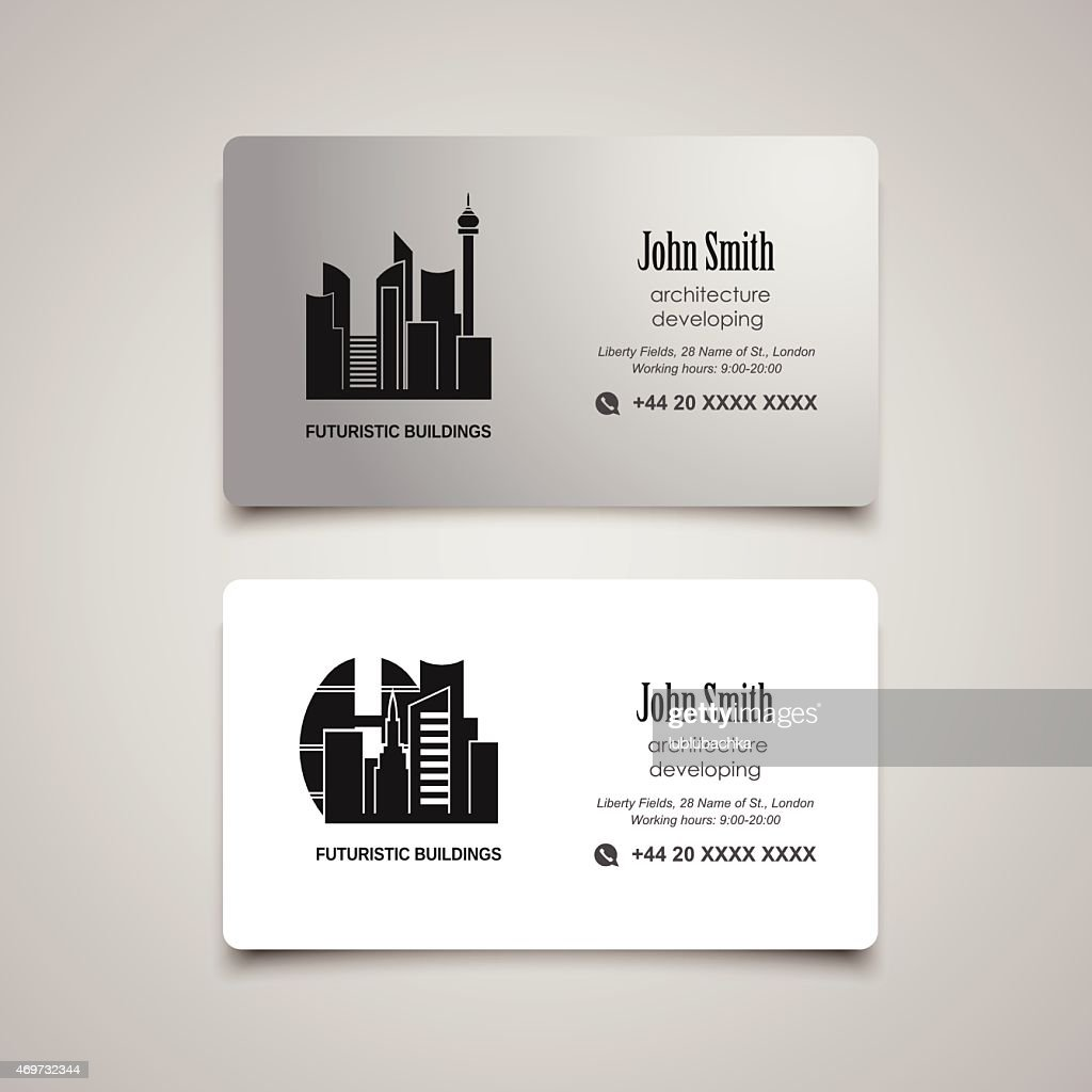 Architecture Developing Or Rent Business Card Vector Template Vector ...